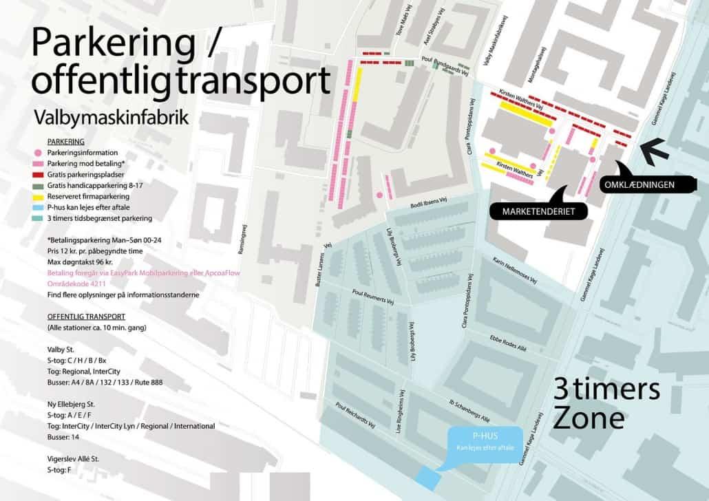 parkering og offentlig transport