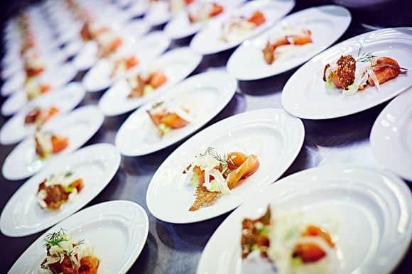 flerretters menu hos marketenderiets catering