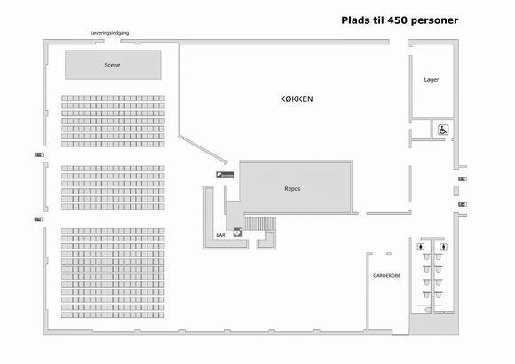 plantegning marketenderiet til 450 personer